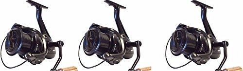 Sonik 3 X Vader X 8000 Big Pit Carp Reels with spare spools
