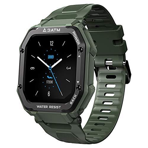 Reloj Inteligente Mujer Hombre Impermeable Llamadas Responder HD Deporte Reloj De Fitness, Actividad Monitores De Datos Físicos Con Control De Pulsómetro, Para IOS 10.0 Superior, Android 5.1 Superior