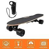 Longboard E Komplettboard Elektrisches City Skateboards Elektrolongboard mit Fernbedienung und 250W Motor | Reichweite 10 km, Max. Geschwindigkeit 20km/h