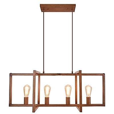 Lingkai Modern Kitchen Island Light 4-Light Pendant Chandelier Ceiling Light Industrial Hanging Light Fixture