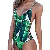 BGROESTWB Bikini Womens High Cinturi Bikinis Tie Tie Knot Strappy Recorte Dos Piezas Traje de baño Traje de la Barrera Traje de natación De Las Mujeres (Color : Green, Size : X-Large)