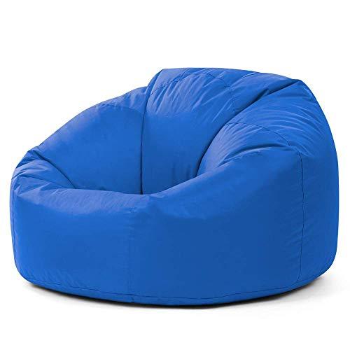 Bean Bag Bazaar Klassischer Sitzsack, Blau - 85cm x 50cm, Sitzsäcke für Erwachsene, Groß, Wohnzimmer, Sitzsäcke für den Innen- und Außenbereich, Wasserabweisend