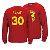 Stephen Curry # 30 Sudadera, Golden State Warriors Hombres Camiseta de Manga Larga de Baloncesto Espesado Traje de Entrenamiento Caliente (Color : Red, Size : S)