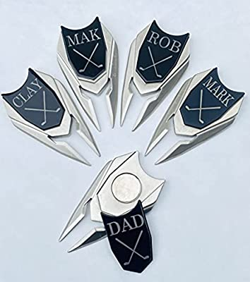 5 Personalized Golf Ball Markers   Customized Divot Tools   Closeout Discounted Markers   Custom Engraved Golfer Marker