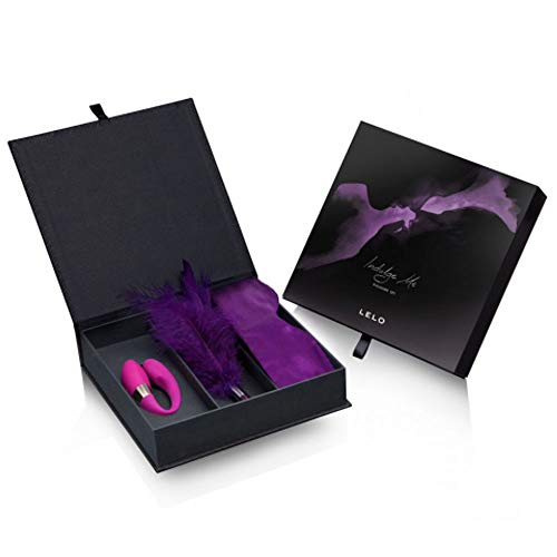 Kit Vibrador Para Casal Recarregável Com 6 Modos De Vibrações Venda Em Seda E Uma Pluma Sedutora Lelo Indulge Me