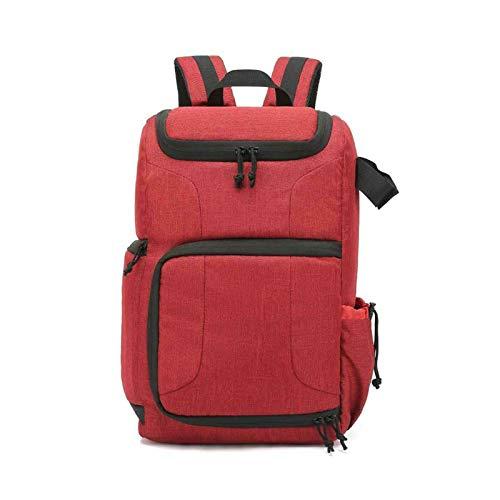 HLIANG Camera Bag Waterproof Camera Bag Photo Cameras Backpack For Laptop DSLR Portable Travel Tripod Lens Pouch Video Bag Dslr Camera Bag (Color : Red)
