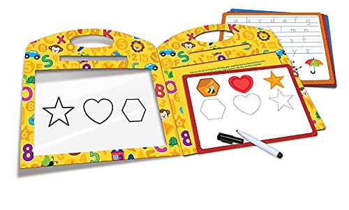 Learning Resources Trace & Learn Writing Activity Set, Practice Shapes and Letters, Homeschool, 12 Pieces, Easter Gifts for Kids, Ages 3+