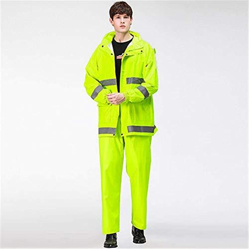 Costume unisexe pluie Raincoat Raincoat Costume Vêtements for la circulation à vélo Full Body sécurité routière Reflective hommes d'avertissement de Split étanche anti-pluie Raincoat Veste de costume
