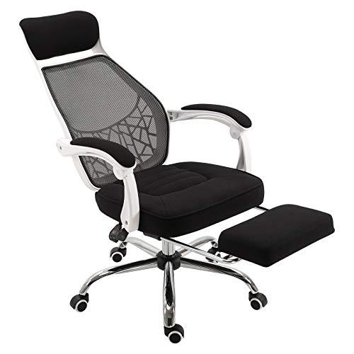 Vinsetto Ergonomic High Back Mesh Office Chair Swivel Reclining Computer Desk Chair with Retractable Footrest, Headrest, Padded Armrest