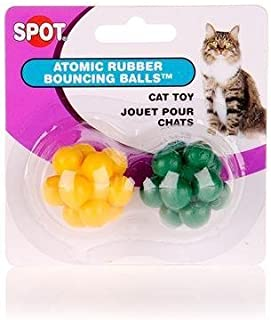 Ethical Pet Atomic Bouncng Ball Cat Toy (2 Pack) [Set of 4]