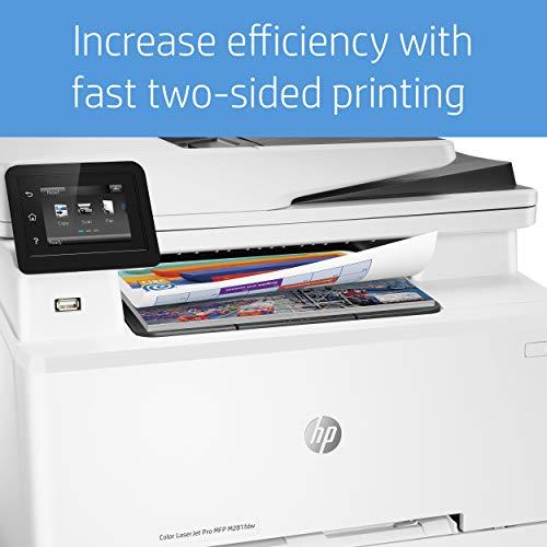 HP M281fdw Color Laserjet Pro – Impresora Multifunción Láser (WiFi, fax, copiar, escanear, imprimir en color, 21ppm), color Blanco