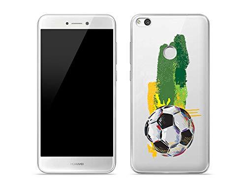 etuo Custodia per Huawei P9 Lite (2017) – Custodia Crystal Design – Calcio – Custodia protettiva per cellulare