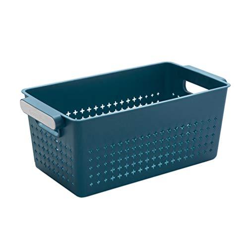 Cabilock Canasta de Almacenamiento de Escritorio Canasta de Lavandería de Plástico Misceláneas Canastas de Estantes Caja de Almacenamiento de Escritorio Vanidad Cubo Cosmético Organizador