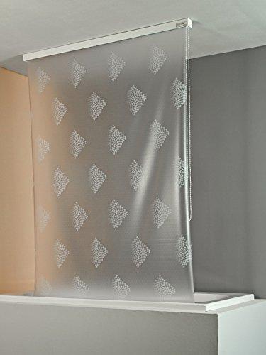 ECO-DuR  4024879003418 Kassetten Duschrollo 134 cm weiß - Karo weiß