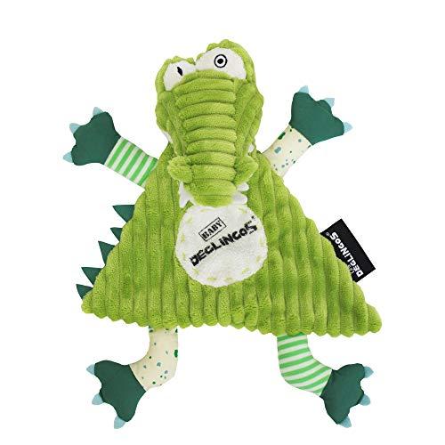 Les Déglingos - Aligatos l'Alligator - Doudou pour Bebe et Enfant - Tissu Doux - Peluche - Ludique - Jouet éducatif - Convient dès la naissance