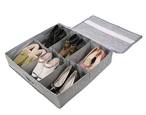 Periea  Sami  Organisateur de Rangement pour Chaussures - sous Le lit - Capacité 12 Paires (Gris)