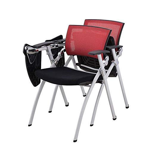 Silla de oficina con tabla de escritura, silla de oficina, plegable, con soporte lumbar., Tablero de Redwriting, 61 x 55 x 83.5cm