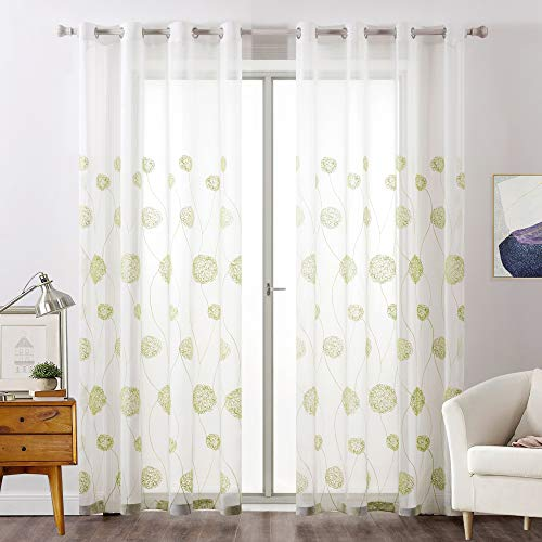 cortinas comedor verdes