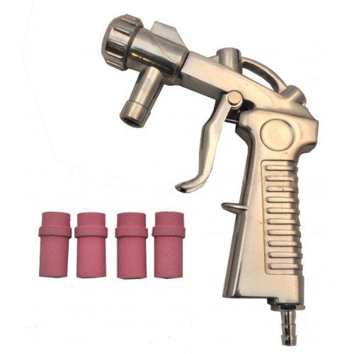 Varan Motors - NESB-14-1 Sandstrahlpistole + 4 Düsen für Sandstrahlkabine und mobilen Sandstrahler