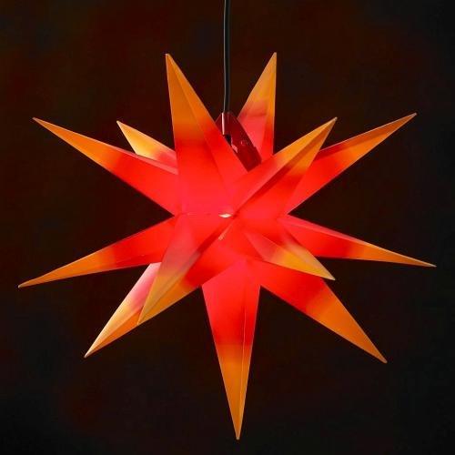 100cm XXL LED-Außenstern rot mit gelben Spitzen mit Farbverlauf wetterfest inklusive Kabelset