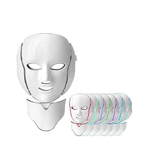 Máscara Facial De La Terapia De La Luz, 7 Colores Tratamientos Del Acné Led Fotones Máscara Facial Cuidado De La Piel Anti Envejecimiento Kit Con