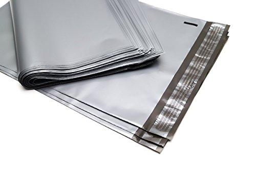 100 Folienmailer® Versandbeutel Silber grau: Bunte Folien-Versandtaschen 360x500mm aus LDPE Coex Folie, selbstklebend und undurchsichtig