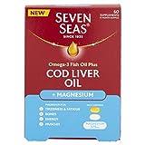 Seven Seas Cod Liver Oil Omega-3, Magnesium & Vitamin D 60 Tablets