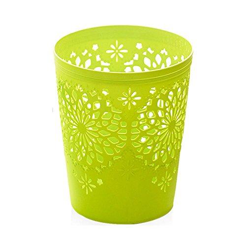 Sucastle Hausmüll kann nett Gebühr Papierkorb Mode Wohnzimmer aufgedeckt kreative europäischen Stil Küche Bad Persönlichkeit Mülltonne (Color : Green)
