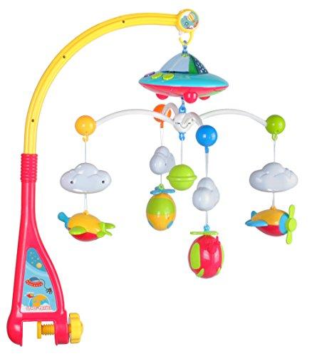 ISO TRADE Giostra per Lettino da Bambini con proiettore - Carillon + Telecomando Giostrina Musicale per Culla e Lettino 4478