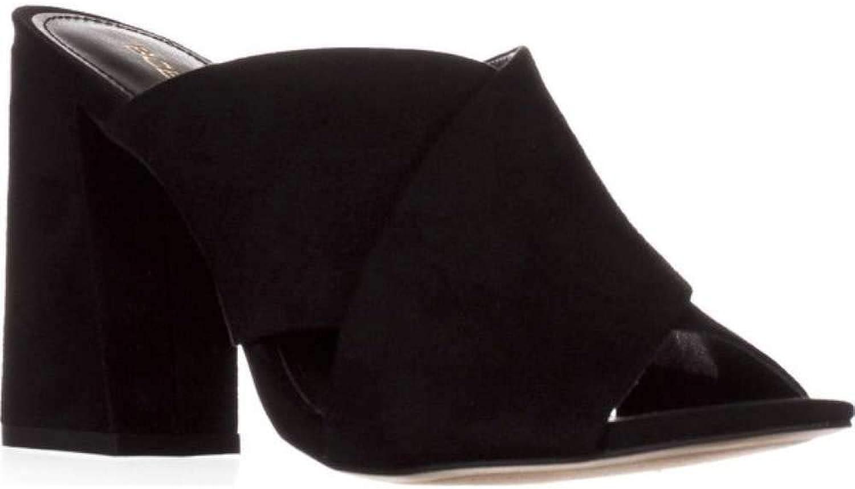 BCBGeneration Womens Rachel Leather Peep Toe Casual Slide Sandals