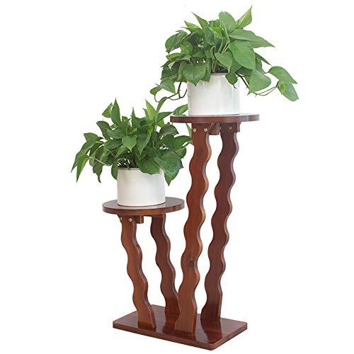 2 étagères support de fleurs étagère salon salon Chlorophytum radis vert plante étagère de pot de fleurs