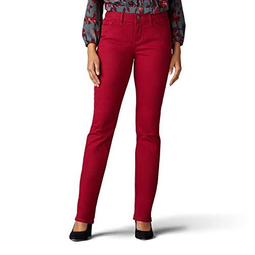 Lee Women's Secretly Shapes Regular Fit Straight Leg Jean, Rouge, 18 Short