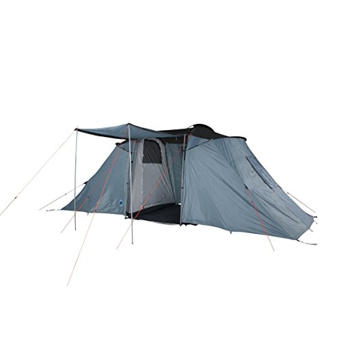 10T Vis-A-vis-tent voor 4, 6 of 8 personen en diverse Kleuren naar keuze, familietent met stahoogte en zonnedak, 5000 mm campingtent, waterdicht tunneltent.