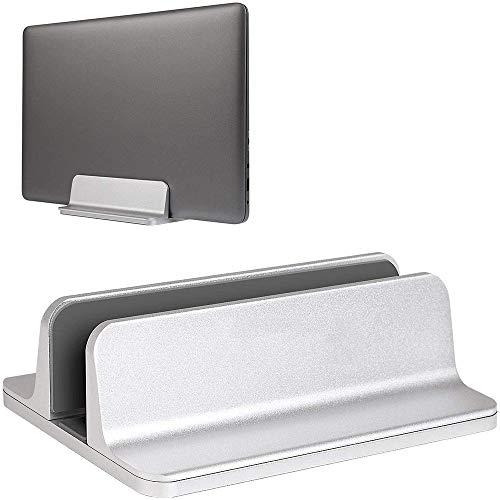 YiYunTE - Soporte vertical de aluminio para ordenador de sobremesa o portátil, de aleación de aluminio, con base ajustable plateado plateado