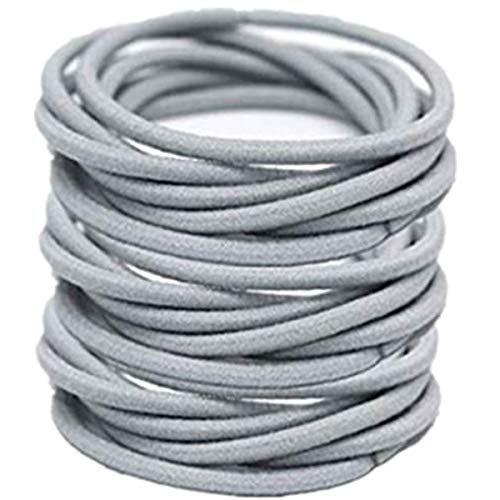 DW 100Pcs Hair Ties Bands, Stretch Elastic Hair Rope Ponytail Holders Headband For Hair Accessory (Grey)