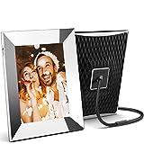 Nixplay 2K Cornice Digitale Wi-Fi, 10 pollici Silver, condividi Video clip e Foto istantaneamente tramite e-mail o app