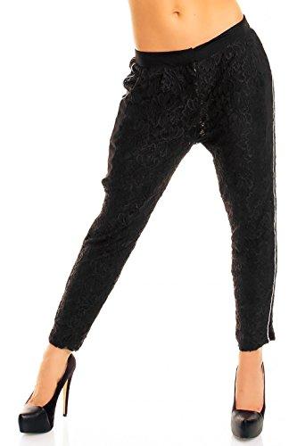 sweewe Mujer Pantalones de Tela con Adornos Punta