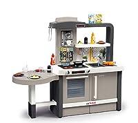 Smoby 312300 Tefal Evo Küche, Spielküche, Kinderküche, Spielzeugküche, für Kinder ab 3 Jahren, grau