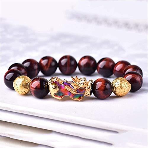 Feng Shui Wealth Bracelet Pulsera roja Cambio de Color Pixiu/Piyao Pulsera Heart Sutra Buddha Bead Bracelet Attract Good Luck Money Bangle para Hombres/Mujeres