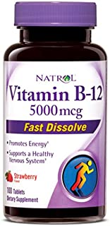 海外直送品Natrol Vitamin B12, 100 Tabs 5000 mcg (Pack of 2)