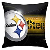 Pittsburgh American Football Steelers Throw Pillow Covers Decorative 18x18 Inch Pillowcase Square Cushion Cases for Home Sofa Bedroom Livingroom