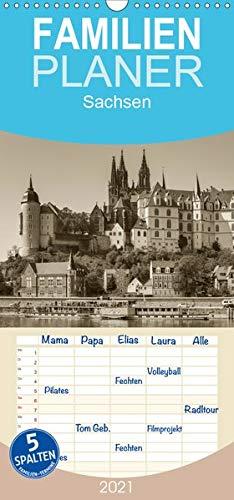 Sachsen - Familienplaner hoch (Wandkalender 2021 , 21 cm x 45 cm, hoch): Ein Kalender mit Fotografien wie aus einem alten Fotoalbum (Monatskalender, 14 Seiten )