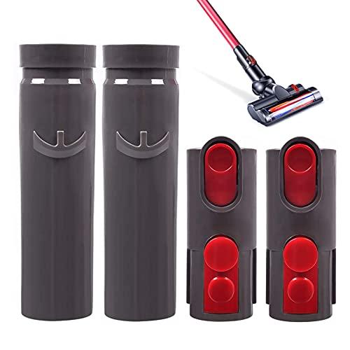 GZhaizhuan 4 Stück Dyson Adapter, Dyson Staubsauger Zubehör für Dyson V6 Auf V7 V8 V10 Adapterstückes und Staubsauger (Zwei Stile)