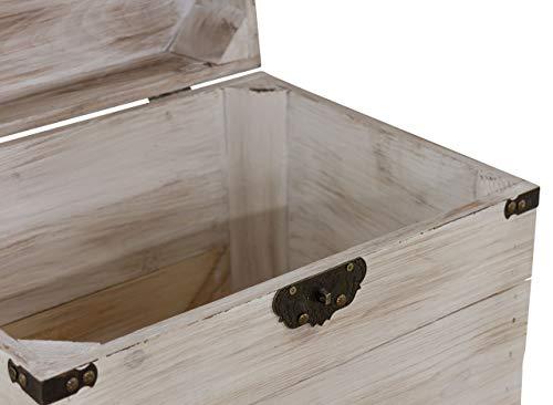 1x braune Holzbox mit Deckel   45x35x35 cm   Neu   schöne Metallbeschläge veredeln die Truhe, Stauraum für Deko, Bilder, Filme - 4