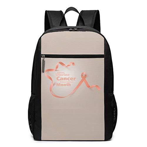 ZYWL Endometrial Cancer Awareness Laptop Backpack, Travel Backpack, Bookbag, Bussiness Bag