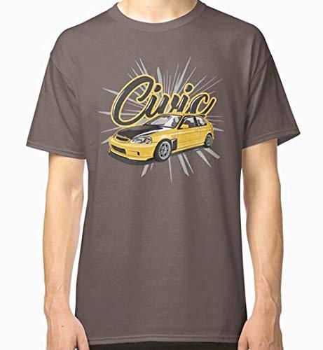 Misty110720a401 PA Shirt Gr. S, Kanjo gelbes Honda Civic klassisches T-Shirt für Herren.