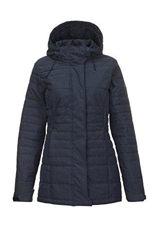 Killtec Lasia Veste d'hiver à Capuche Femme, Bleu Marine Foncé, FR : 4XL (Taille Fabricant : 50)