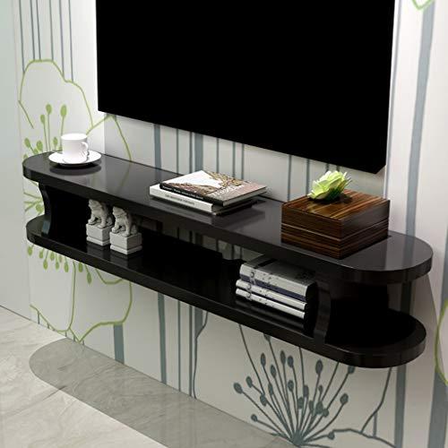 ZPWSNH Wandmeubel met dvd-satelliet-tv-box, open kast, open kast, schuifbaar rek, met dvd-satelliet-/tv-box, kabelbox, TV-staander aan de muur