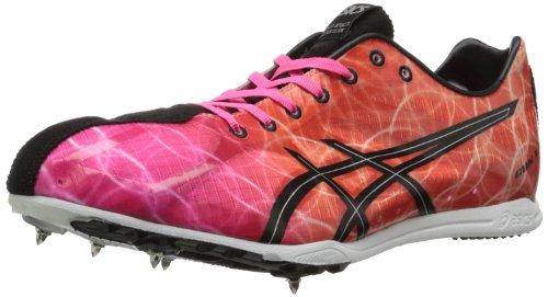 ASICS Men's Gun Lap Track Shoe,Knockout Pink/Black/Fiery Flame,6.5 M US