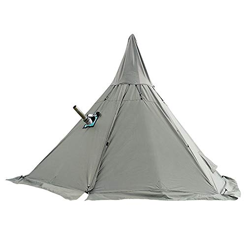 WINTENT 4 Season Teepee Tent with Stove Jack for Camping Hiking, Height 7.8FT/240CM (Green, Without Mesh Tent)